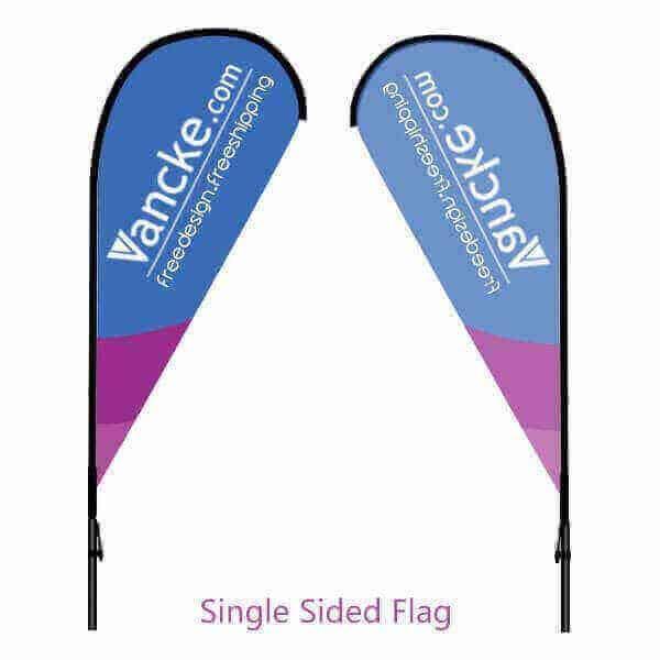 Single-sided-teardrrop-flag